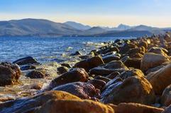 Dvuyakornaya-Bucht in Krim zwei verankern Bucht in Krim Lizenzfreies Stockbild