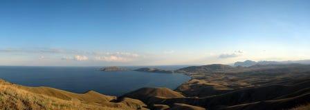 Dvuyakornaya zatoka w Crimea Dwa kotwicowej zatoce w Crimea Fotografia Royalty Free
