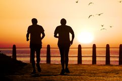 dwóch biegaczy Obrazy Royalty Free