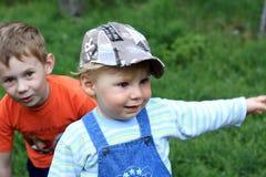 dwóch chłopców Obrazy Royalty Free