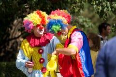 dwóch klaunów Obrazy Stock