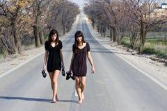dwóch młodych modelek Obraz Royalty Free