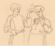 dwóch najlepszych szefów kuchni Obrazy Stock