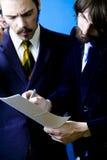 dwóch przedsiębiorców Zdjęcia Stock
