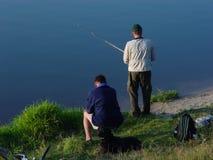 dwóch rybaków Obrazy Royalty Free