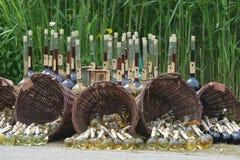 Dwójniak, wino Przy Średniowiecznym rynkiem/ Obrazy Royalty Free