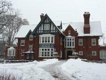 Dwór w śnieżycy Obrazy Royalty Free