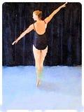 DW-ballerina på pointe 1 Arkivfoton