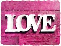 DW-förälskelse på rosa kort Royaltyfria Foton