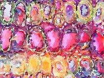 DW het ei geeft roze achtergrond gestalte Stock Foto