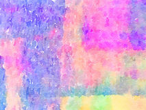 DW Painted background. Digital watercolor painting of a pink, purple, blue, green, orange and yellow painted abstract background. Can be used as a background for Stock Photos