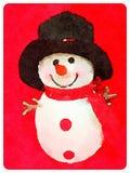 DW sneeuwman 2 Stock Afbeelding