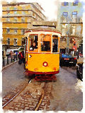 DW tram 5 Royalty-vrije Stock Foto's
