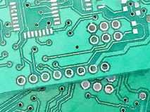 DW two harware boards 1. Digital watercolor painting of a closeup of two hardware boards Stock Image
