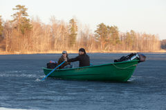 dwa łódź Obrazy Royalty Free