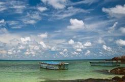 Dwa łódź na morzu Obrazy Stock