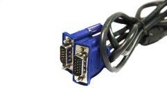 Dwa ślimakowaty i obszyci VGA kable Fotografia Royalty Free