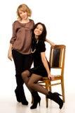 Dwa śmiają się pięknej kobiety Fotografia Stock
