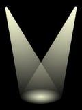 Dwa światło reflektorów obrazy stock