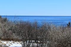 Dwa ?wiate? stanu park i otaczaj?cy widok na ocean na przyl?dku Elizabeth, Cumberland okr?g administracyjny, Maine, JA, Stany Zje fotografia stock