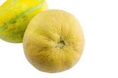 Dwa świeżego melonu odizolowywającego zdjęcie royalty free