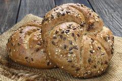 Dwa świeżej chlebowej rolki Zdjęcia Stock