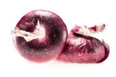 Dwa świeżej dojrzałej czerwonej cebuli Zdjęcie Stock