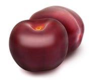 Dwa świeżej dojrzałej czerwonej wiśni Obrazy Stock