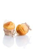 Dwa świeżo robić muffins zdjęcia royalty free