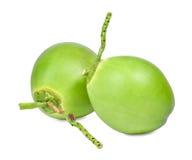 Dwa świeży zielony koks odizolowywający na whit zdjęcia stock