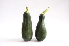 Dwa świeży zucchini Obraz Stock