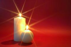 dwa świece. Zdjęcie Royalty Free