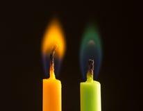 dwa świece Zdjęcia Stock