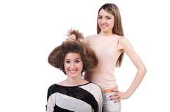 Dwa żeńskiego przyjaciela odizolowywającego Fotografia Stock