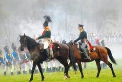 Dwa żołnierz przejażdżki konia. Fotografia Royalty Free