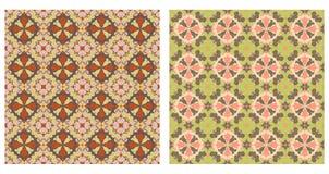 Dwa abstrakcjonistycznego wzoru bezszwowego ilustracja wektor