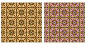 Dwa abstrakcjonistycznego wzoru bezszwowego Zdjęcia Stock