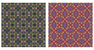 Dwa abstrakcjonistycznego wzoru bezszwowego Zdjęcia Royalty Free