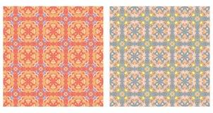 Dwa abstrakcjonistycznego wzoru bezszwowego Obrazy Royalty Free