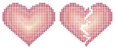 Dwa abstraktów serca wektor Zdjęcie Stock