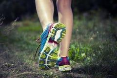 Dwa ładnej dziewczyny jogging Obraz Royalty Free
