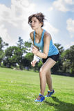 Dwa ładnej dziewczyny jogging Zdjęcie Royalty Free