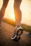 Dwa ładnej dziewczyny jogging w ranku Obrazy Stock