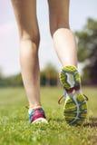 Dwa ładnej dziewczyny jogging w ranku Obraz Royalty Free