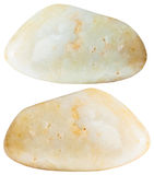 Dwa agata klejnotu naturalnego kopalnego kamienia odizolowywającego Zdjęcie Stock