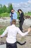 Dwa agent fbi zachowania areszt przestępca Fotografia Royalty Free