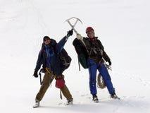 dwa alpiniści obraz royalty free