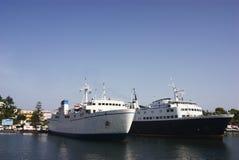 Dwa ampuły statek wycieczkowy Obrazy Stock