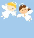 Dwa anioła royalty ilustracja