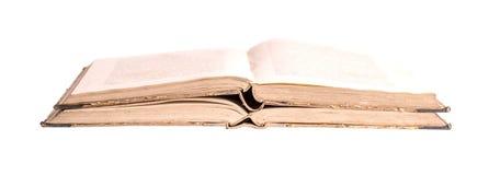 Dwa antycznej książki na białym tle Fotografia Stock